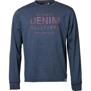 DENIM BELIEVERS 336 NAVY PITKÄHIHAINEN T-PAITA